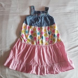 Girls size 6 Carters Upcycled Dress